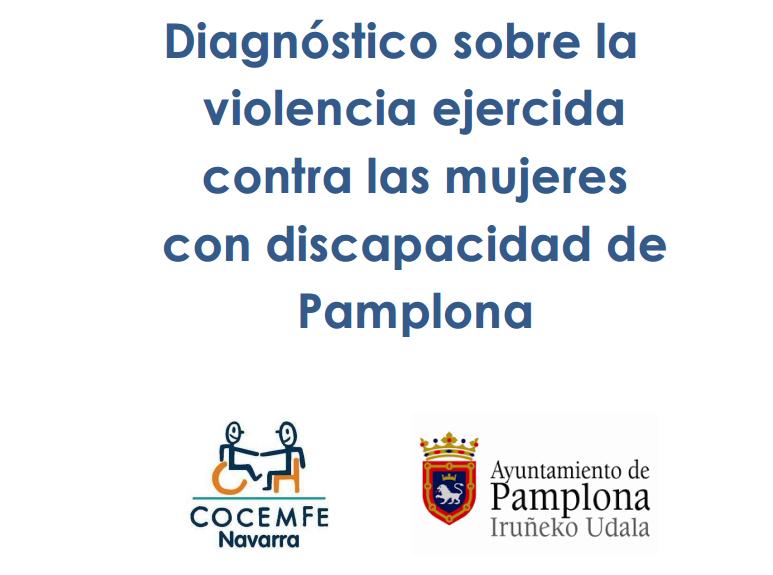 Detalle de la portada del estudio 'Diagnóstico  sobre la violencia ejercida contra las mujeres con discapacidad de Pamplona'