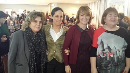 Teresa Palahí, Ana Peláez, Rosa Estarás y María Consuelo Huertas en Mallorca durante la presentación de la Fundación CERMI Mujeres