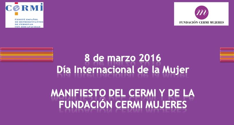 Detalle del Manifiesto del CERMI por las mujeres y niñas con discapacidad víctimas de la violencia ejercida a través de las nuevas tecnologías