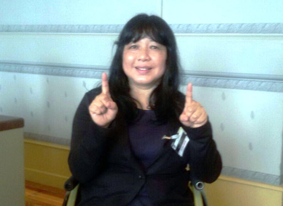 Tamara Sahuala, presidenta de presidenta de la Asociación para el Empoderamiento de las Mujeres con Discapacidad de Tailandia