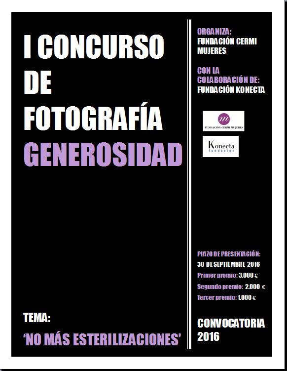Portada del concurso de 'Generosidad' de fotografía