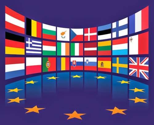 Banderas y estrellas, símbolo de la UE