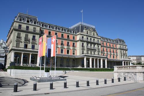 Palacio Wilson de Ginebra, sede oficial de la Oficina del Alto Comisionado para los Derechos Humanos (OACDH)