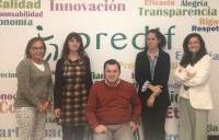Momento tras la firma del convenio entre la Fundación CERMI Mujeres y Predif