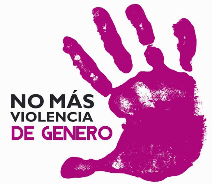Logotipo No más violencia de género