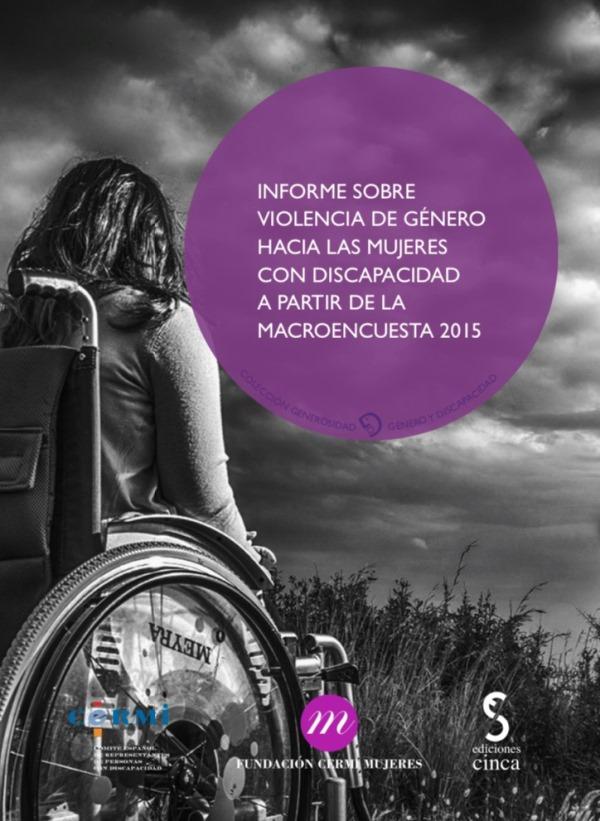 """Portada del libro """"Violencia de género hacia las mujeres con discapacidad a partir de la Macroencuesta 2015"""" editado por la FCM en su colección 'Generosidad'"""