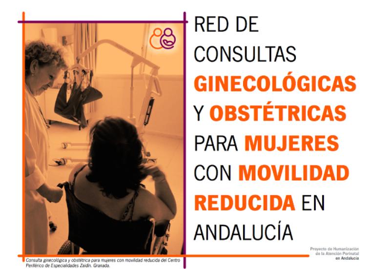 Red pública de Consultas Ginecológicas y Obstétricas para mujeres con movilidad reducida en Andalucía