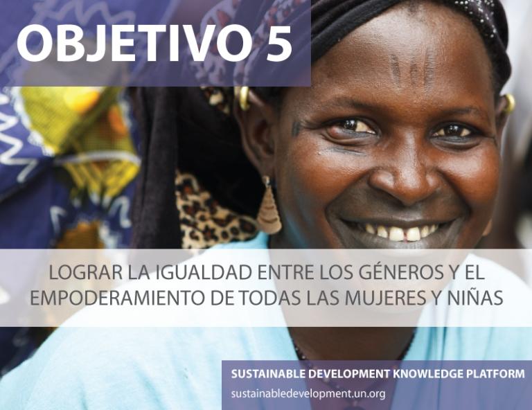 Detalle del objetivo 5 de desarrollo sostenible