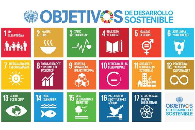 Gráfico de los objetivos de desarrollo sostenible