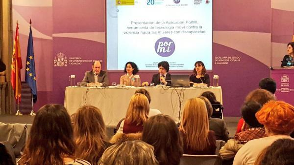Presentación de 'Pormí', una aplicación contra la violencia de género dirigida a las mujeres con discapacidad