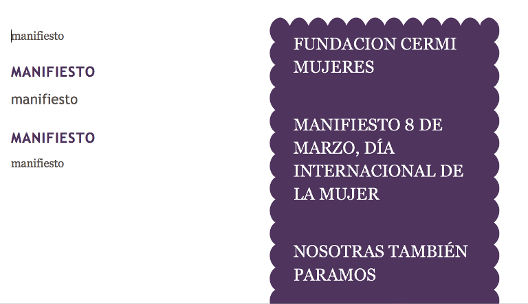 Ilustración del Manifiesto para el Día Internacional de la Mujer 2017 de FCM