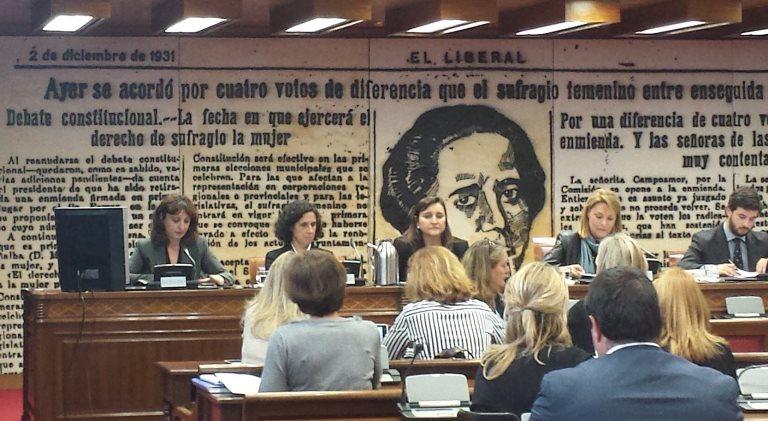 Momento de la presentación de la aplicación 'Pormí' en el Senado