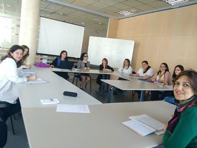 Integrantes de la primera reunión de la Comisión de la Mujer del CERMI Andalucía