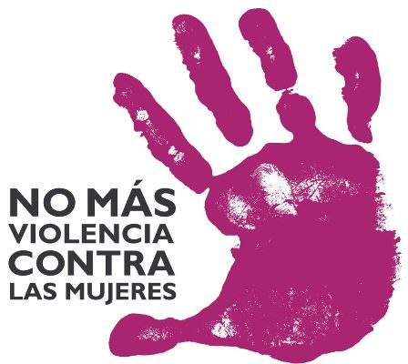 Logotipo de 'No más violencia contra las mujeres'