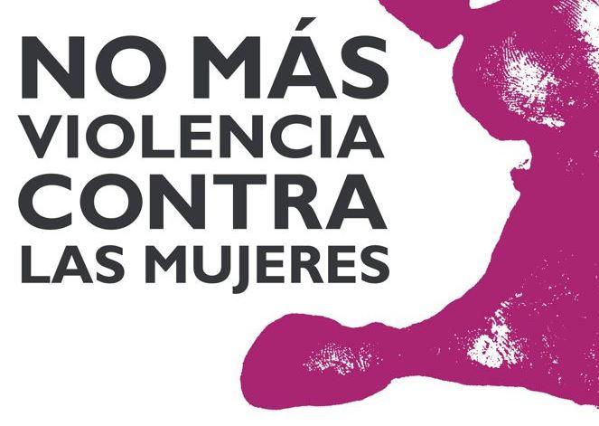 Detalle del logotipo de 'No más violencia contra las mujeres'