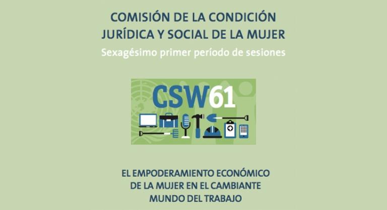 Logotipo de la Comisión de la Condición Jurídica y Social de la Mujer