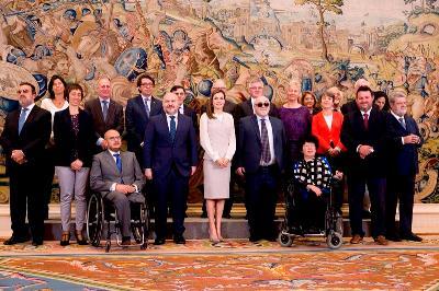 Su Majestad la Reina Letizia recibe a una delegación del EDF y del CERMI