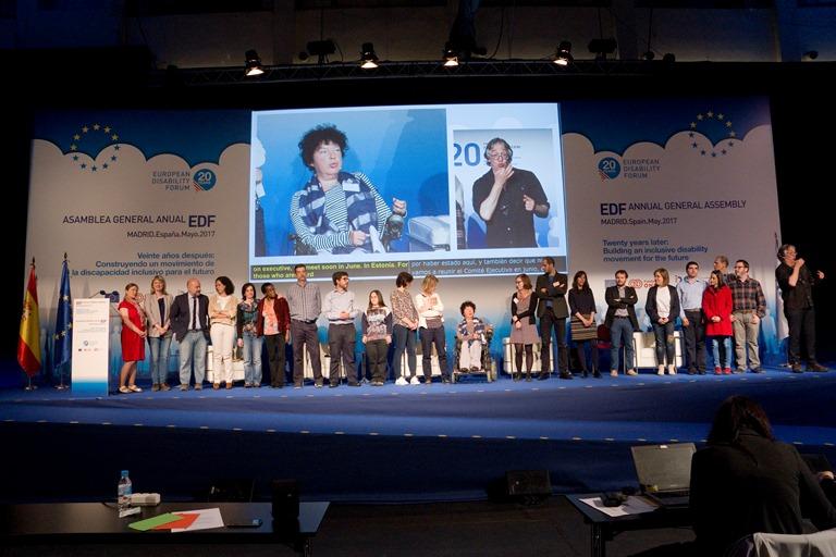 Momento de la Asamblea del EDF celebrada en Madrid durante la que se adoptó la Declaración de Madrid Renovada