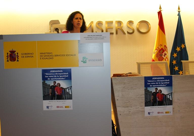 """La vicepresidenta ejecutiva de la FCM, Ana Peláez, en su intervención en las jornadas de Amifp: """"Genero y discapacidad: los retos de la igualdad de oportunidades"""""""