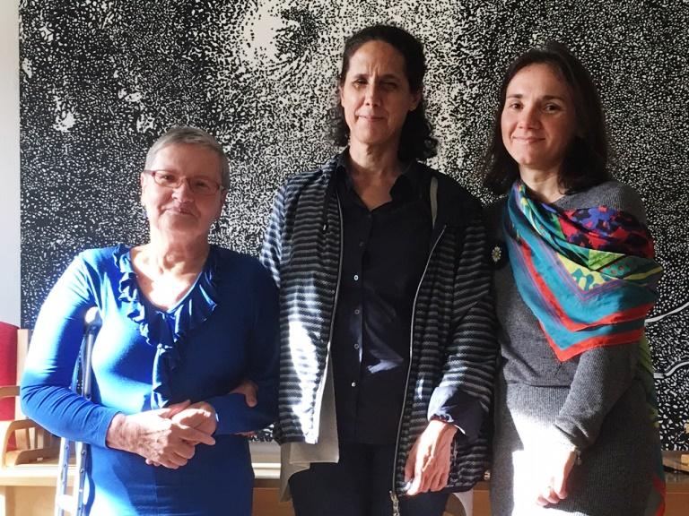 De izquierda a derecha: Mare Abner, Ana Peláez y Jelena Pipper