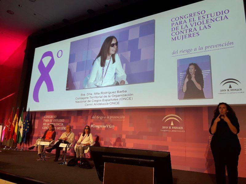CERMI Andalucía participa en uno de los grupos de trabajo del VIII Congreso para el Estudio de la Violencia Contra las Mujeres