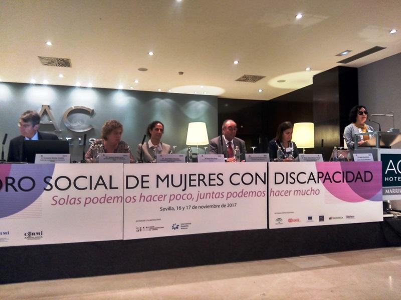 Inauguración del I Foro social de mujeres con discapacidad