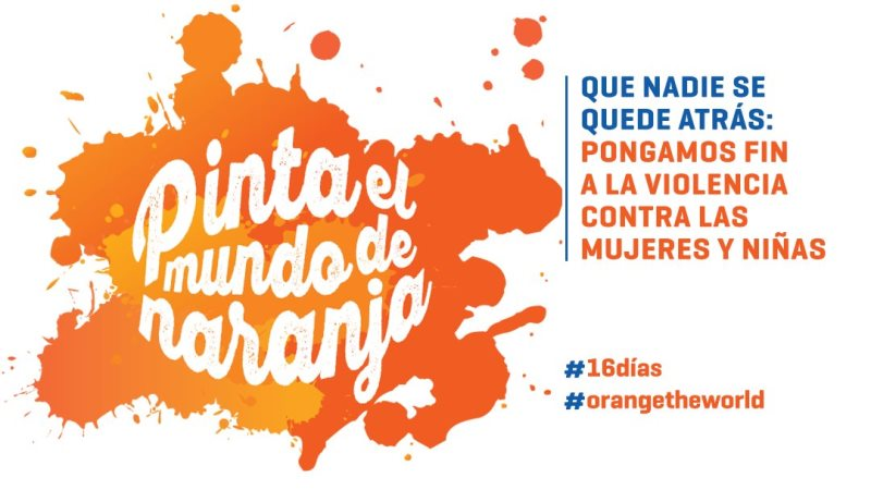Logotipo de la campaña Pinta el mundo de naranja
