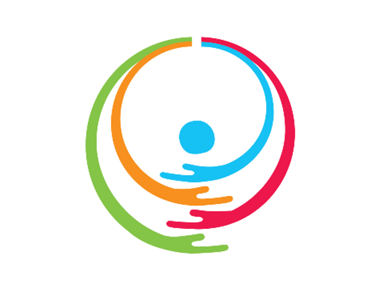 Detalle del logotipo del Día Internacional y Europeo de las Personas con Discapacidad