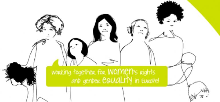 Detalle del logotipo del Lobby Europeo de Mujeres (EWL)