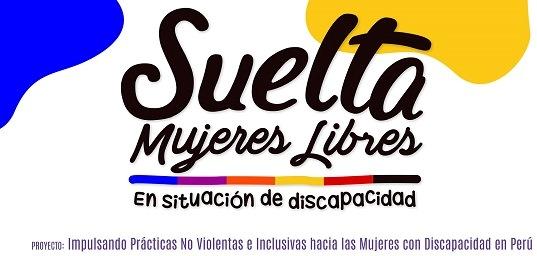 """Logotipo de la campaña """"Suelta mujeres libres en situación de discapacidad"""""""