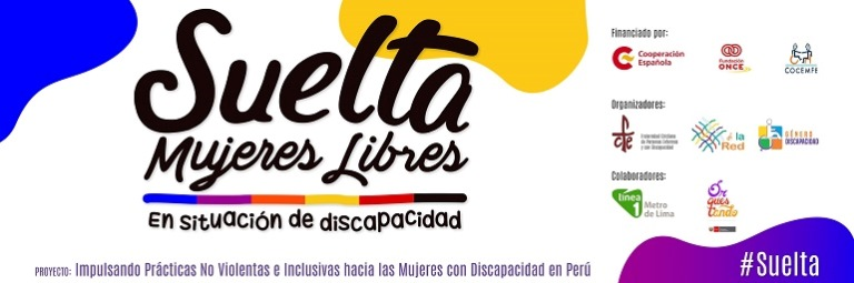 """Logotipo de la campaña """"Suelta mujeres libres en situación de discapacidad"""