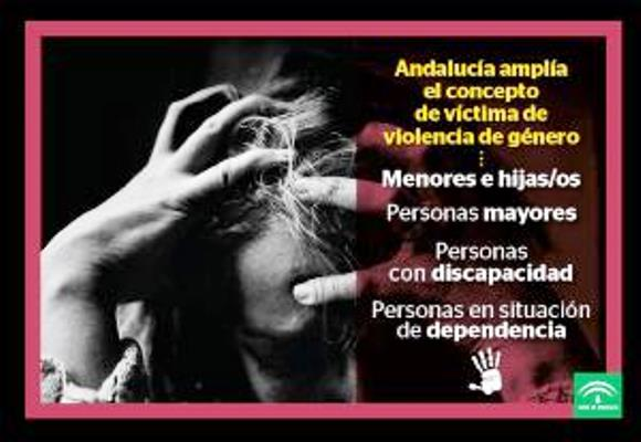 """Foto de la campaña """"Andalucía amplía el concepto de víctima de violencia de género"""""""