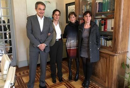 José Luis Rodríguez Zapatero, Victoria Ortega, Ana Peláez e Isabel caballero