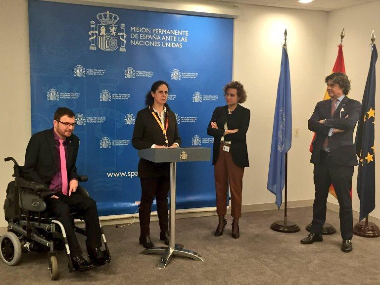 La Fundación CERMI Mujeres, entre las entidades sociales españolas recibidas por Dolors Montserrat en la ONU