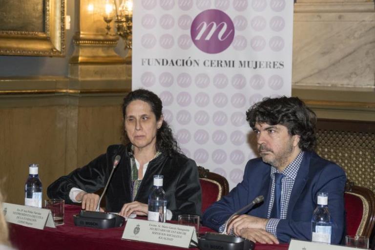 Mario Garcés durante su intervención en la II Conferencia Sectorial de Mujeres con Discapacidad