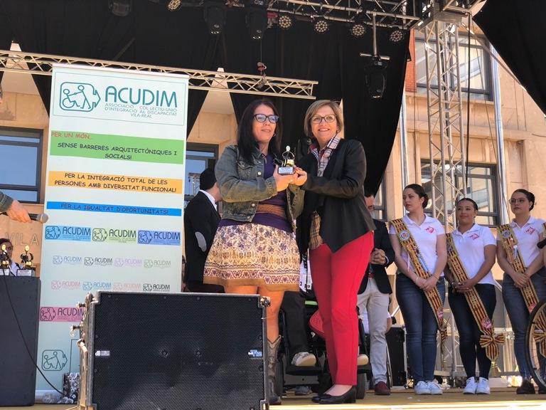 Esperanza Adrià, galardonada por su trabajo a favor de las mujeres con discapacidad en la Comunidad Valenciana