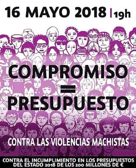 Cartel de la manifestación para exigir el cumplimiento del Pacto de Estado contra la Violencia de Género