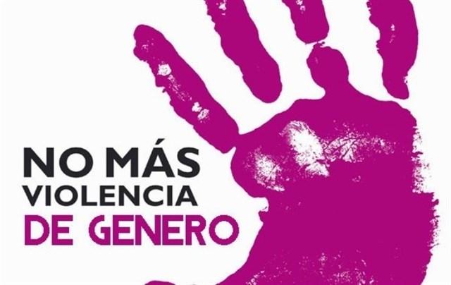 Cartel sobre NO más violencia de género