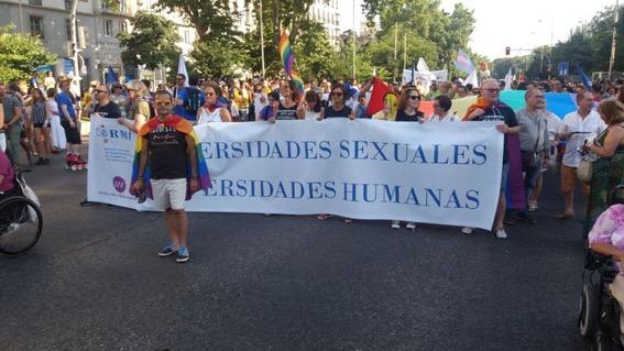 CERMI y Fundación CERMI Mujeres participaron en la marcha del orgullo LGTBI 2018 de Madrid