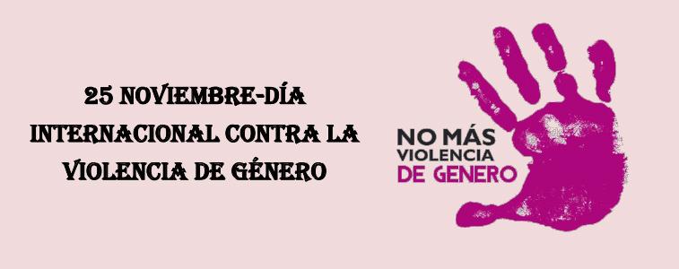 25 de noviembre - Día Internacional de la eliminación de la violencia contra la mujer