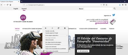 Imagen de la nueva web de la Fundación CERMI Mujeres