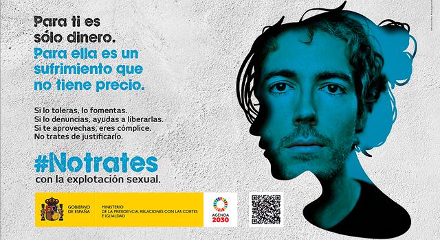 Imagen de la campaña No trates con la explotación sexual