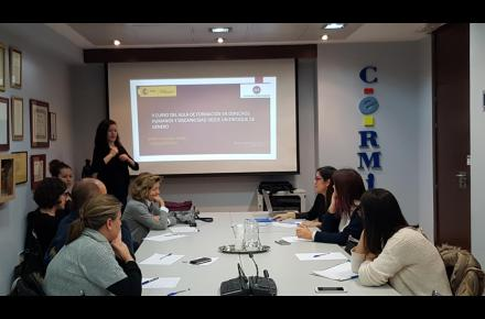 Momento de una de las ediciones del Aula de formación en Derechos Humanos y Discapacidad desde un Enfoque de Género de CERMI Mujeres