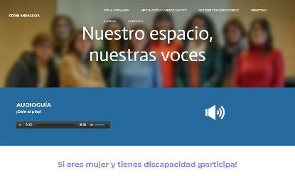 Detalle de la campaña 'Nuestro espacio, nuestras voces' en la web de Cermi Andalucía