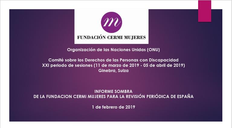 Informe Sombra Fundación CERMI Mujeres