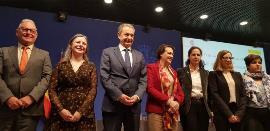 NEL ANXELU GONZÁLEZ, PRESIDENTE DE LA CONFEDERACIÓN SALUD MENTAL ESPAÑA; ARACELI MARTÍNEZ ESTEBAN, DIRECTORA DEL INSTITUTO DE LA MUJER DE CASTILLA LA MANCHA; JOSÉ LUIS RODRÍGUEZ ZAPATERO, PATRONO DE L
