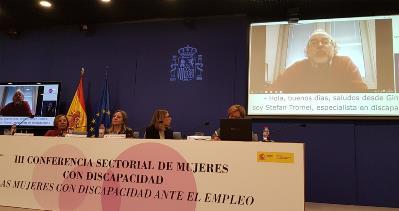Stefan Tromel durante su vidioconferencia