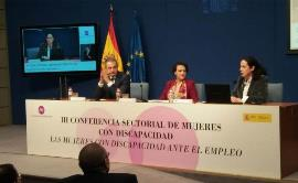 """La ministra de Trabajo, Migraciones y Seguridad Social, Magdalena Valerio, lamentó este jueves que """"la situación de las mujeres con discapacidad en el mercado laboral"""