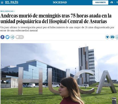 Detalle del artículo de El País al que se hace referencia en el editorial de FCM con Andreas en la foto