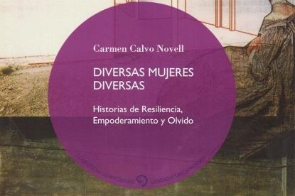 "Detalle de la portada del libro ""Diversas mujeres diversas"" de Carmen Calvo Novell"
